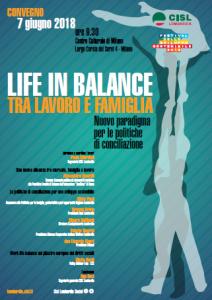 Life in Balance 7 giugno 2018