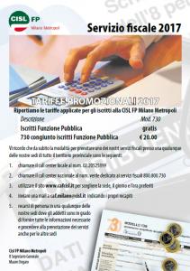 campagna fiscale 2017 cisl fp milano