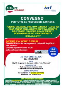 Corso ecm Bergamo 30 novembre 2017
