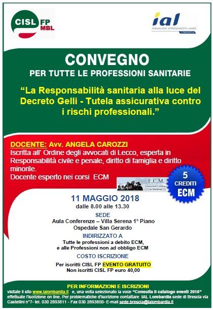 Corso ECM CISL FP MBLC 110518