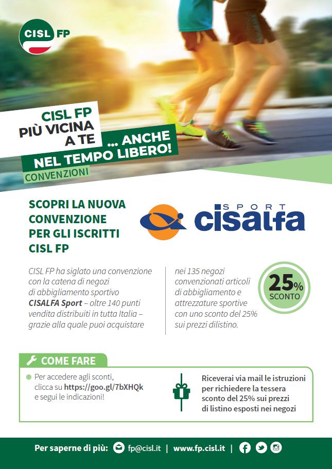 CISALFA convenzione CISL FP