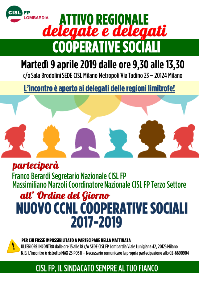 Attivo regionale Coop Sociali 090419