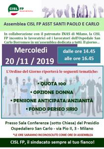 assemblea CISL FP ASST SANTI PAOLO CARLO 201119