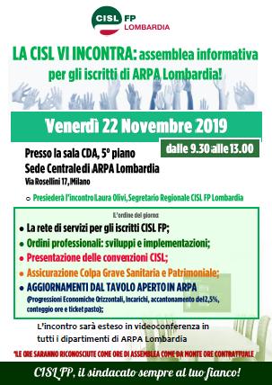 assemblea informativa CISL FP ARPA Lombardia