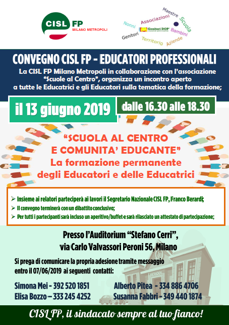 Convegno Milano Educatori CISL FP