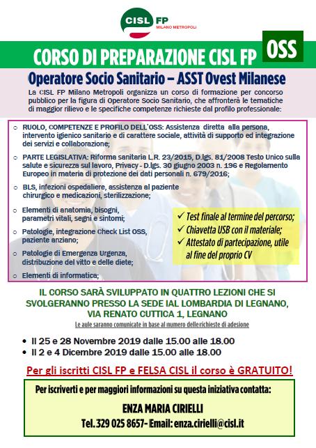 Corso preparazione concorso OSS CISL FP Milano