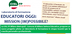 Educatori Oggi laboratorio formativo CISL FP Milano